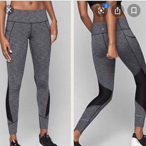 Athleta dark heather gray leggings SzS